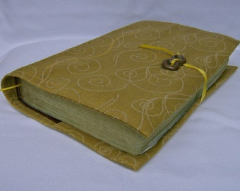 Gold Swirls Fireworks Fabric Book Cover