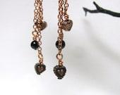 Copper Heart Earrings RKMixables Copper Collection RKM163