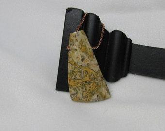Leopardskin Jasper Pendant RKMixables Copper Collection RKM74