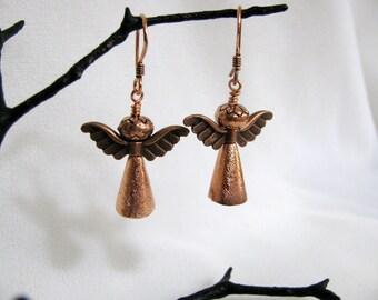 Copper Guardian Angel Earrings RKMixables Copper Collection, RKM242