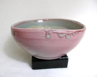 Red Salt Fired Triangular Porcelain Bowl  RKC040