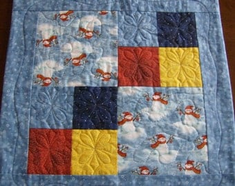 Snowman Table Quilt  CLEARANCE