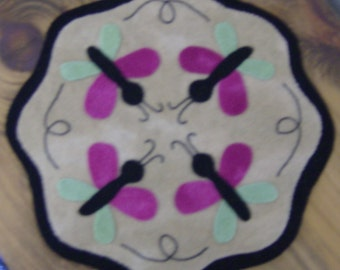 Wool Butterfly Candle Mat
