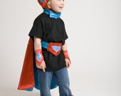SUPERHERO head to toe Cape and Accessory set (One Star Pattern)