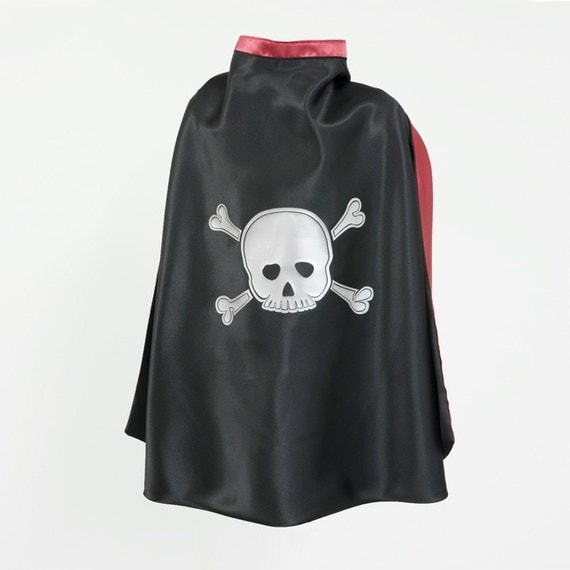 Black and Red Scull and Bones Superhero Cape (Price Reflects 40%Discount)