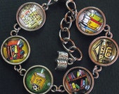 Library Librarian Bracelet Literary Jewelry