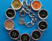 I Write Bracelet Writers Authors Writing Literary Jewelry Silver Colored