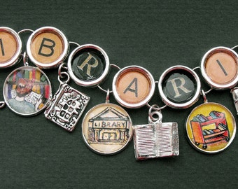 Librarian Bracelet Picture Charms