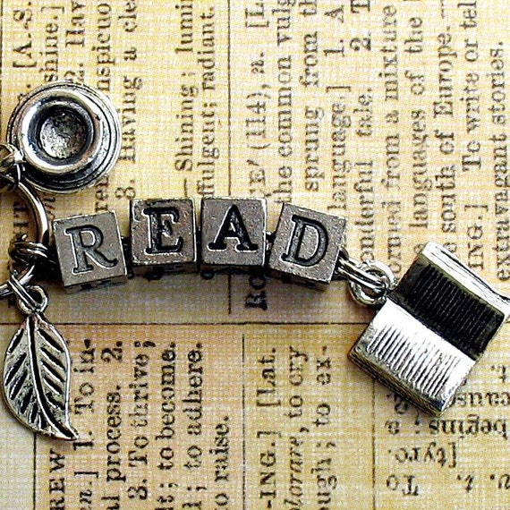Reading Earrings: Read Book Lovers Key Ring Literary Bookish Jewelry By
