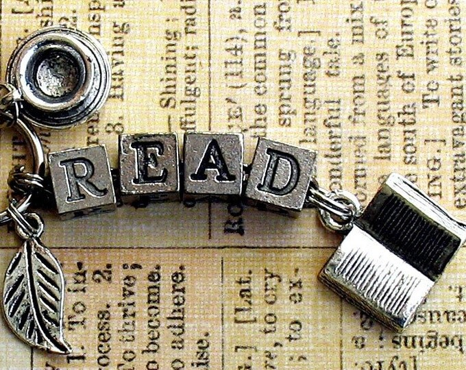 Read Book Lovers Key Ring Gift Literary Bookish Jewelry Stocking Stuffer