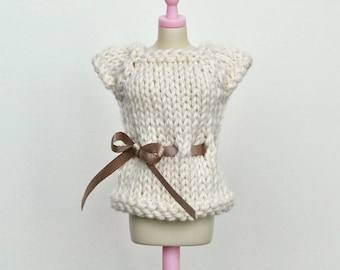 Blythe Top - CREAM Short Sleeved Sweater