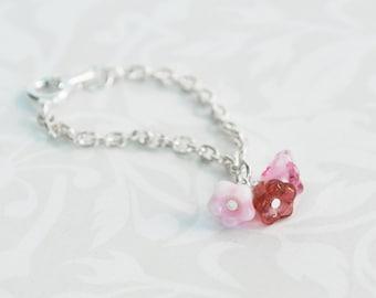 Blythe Necklace - PINK FLOWERS
