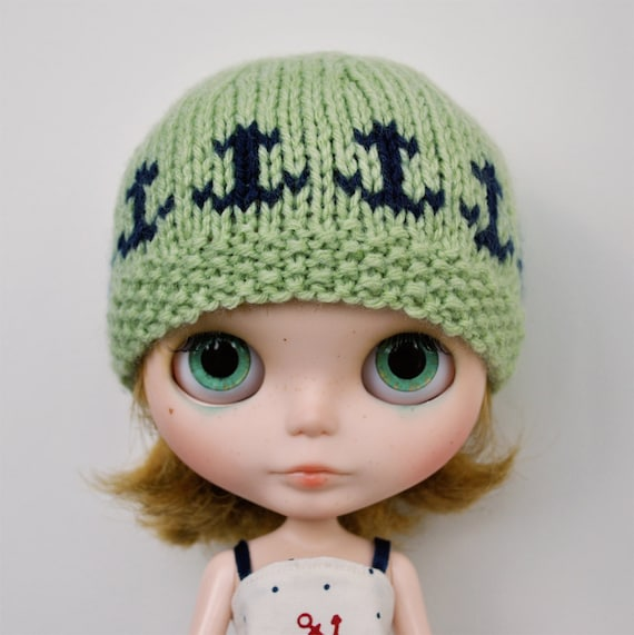 Blythe Hat - ANCHORS AWAY Green and Navy Blue