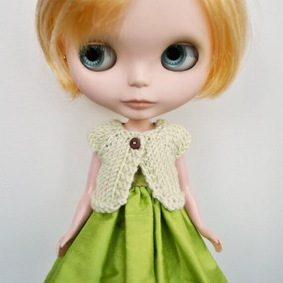 Blythe Cardigan - PALE GREEN Short Sleeved