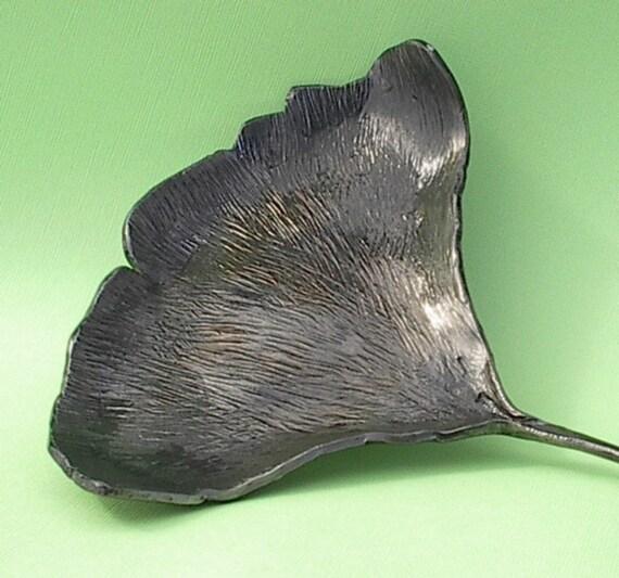 Hand Forged Ginkgo Leaf Dish