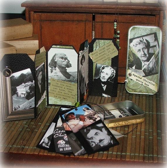 Agatha Christie quote box, altered tin