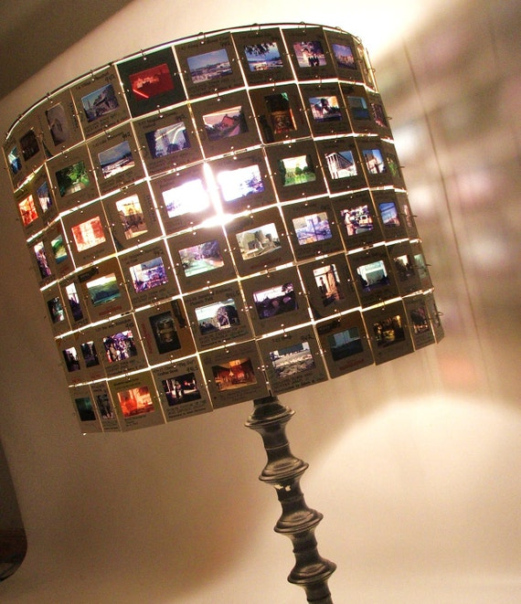 France Italy Europe Travel Lamp Shade made from Vintage 35mm Slides