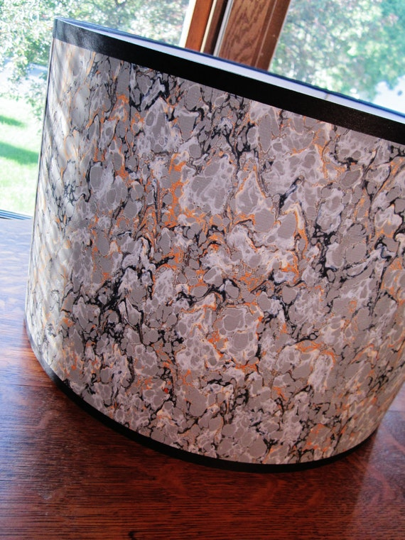 French marbled paper lamp shade