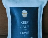 Keep Calm and Have a Cupcake Pillow Cover