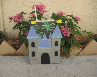 Castle with Fireworks Party Favor Gift Bag