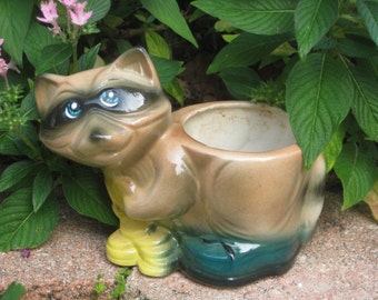 Vintage Raccoon Planter