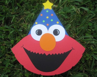 Elmo Sesame Street Inspired Card Invitation - Set of 10 Ready to Ship