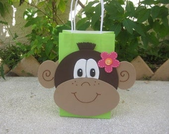 Mod Monkey Birthday Party Favor Bag