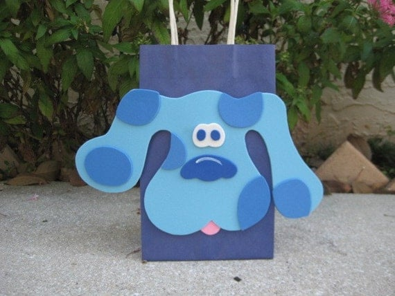 Blues Clues Blue Dog Inspired Birthday Party Favor Bag