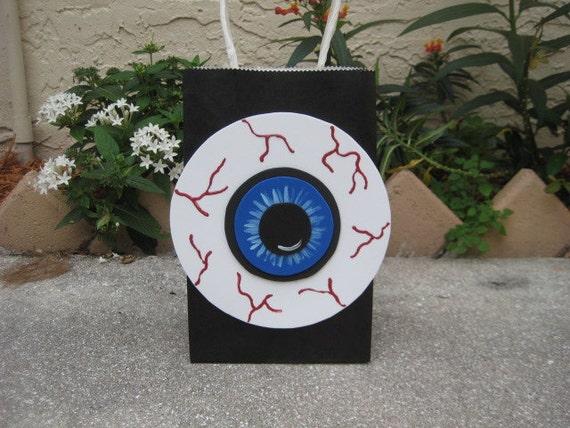 Eyeball Birthday or Halloween Party Favor Bag