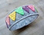 Colorful Bunting Handmade Felt Bracelet by OrdinaryMommy