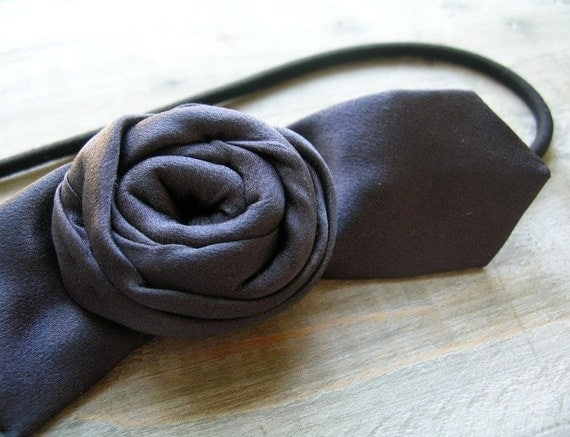 30% off Upcycled Necktie Headband Silky Gray One of a Kind Eco Gift for Women by OrdinaryMommy on Etsy