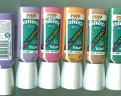 TULIP COLORPOINT PUFF Paint - 6 multi color Tubes Stitch Paint matt Looks like Embroidery Crafts Art Painting Garden Flowers Whimsical New