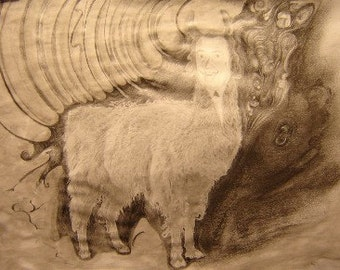 His Holiness (Original Artwork In Mat)
