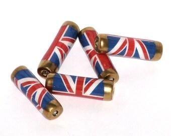 Paper beads - Union Jack mini bag