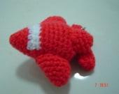 Red Airplan Crochet Doll Keychain