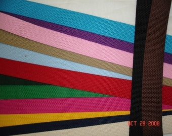 Ten Yards of 1.25 Heavy Weight Cotton Webbing for key fobs