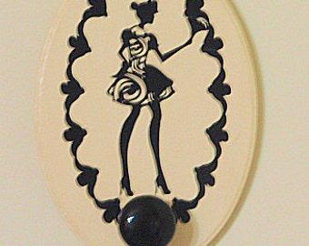 SALE!!! Mock Steampunk French Maid Wood Necklace/belt Hanger