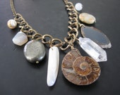 SALE - Assemblage Bib Necklace - The Collector  No.3 -  Collar of Curiosities