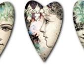Heart Digital Collage Print Sheet no51