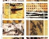 Asian ATC-ACEO Digital Collage Print Sheet no111