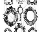 Victorian Frames Digital Collage Print Sheet no192
