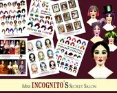 NEW-Hair Studio Paper Doll Digital Collage Print Sheet no226