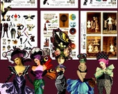 Paper Doll Kit Mix and Match Endless Vol.2 - 6 Digital Collage Print Sheets no232