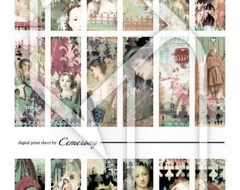 Women Pastel Digital Collage Print Sheet no45