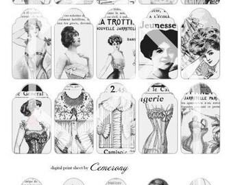 Tags Digital Collage Print Sheet no22