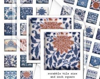 China Tiles Digital Collage Print Sheets no50