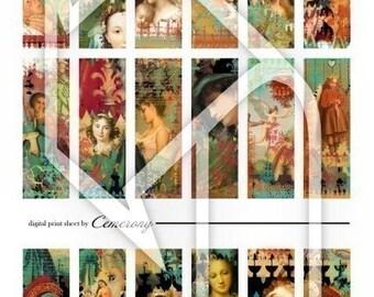 Digital Collage Print Sheet no43
