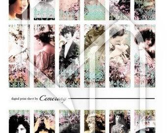 Digital Collage Print Sheet  Vintage Ladies no46