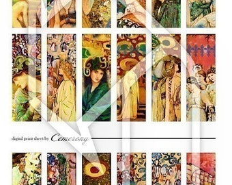 Women Altered Art Digital Collage Print Sheet no74