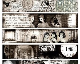 Fills for Cuffs Digital Collage Print Sheet no218